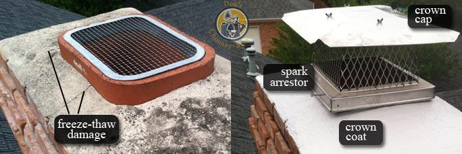 chimney cap repair | image