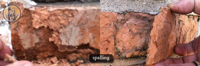 chimney waterproofing | image of spalling